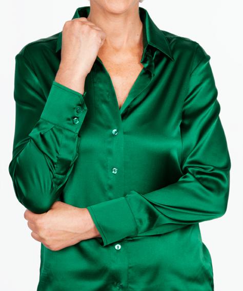 Zijden Groene Blouse