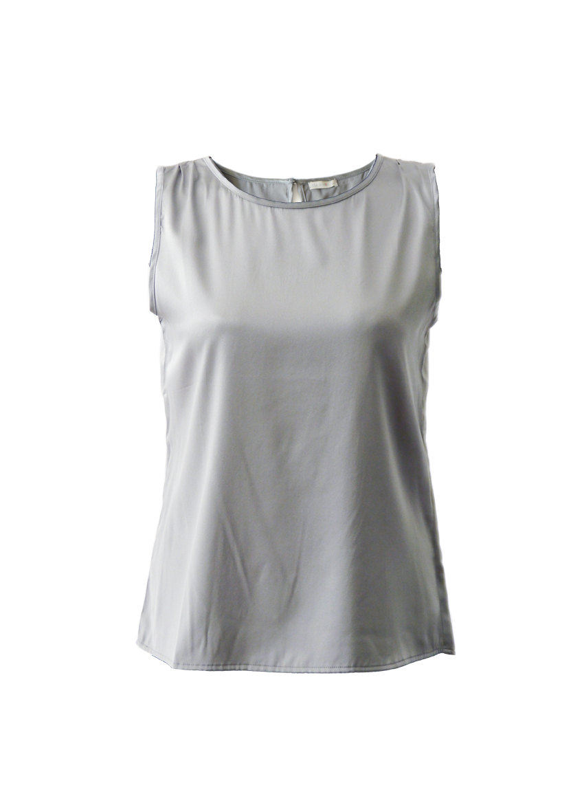 grijze satijnen blouse