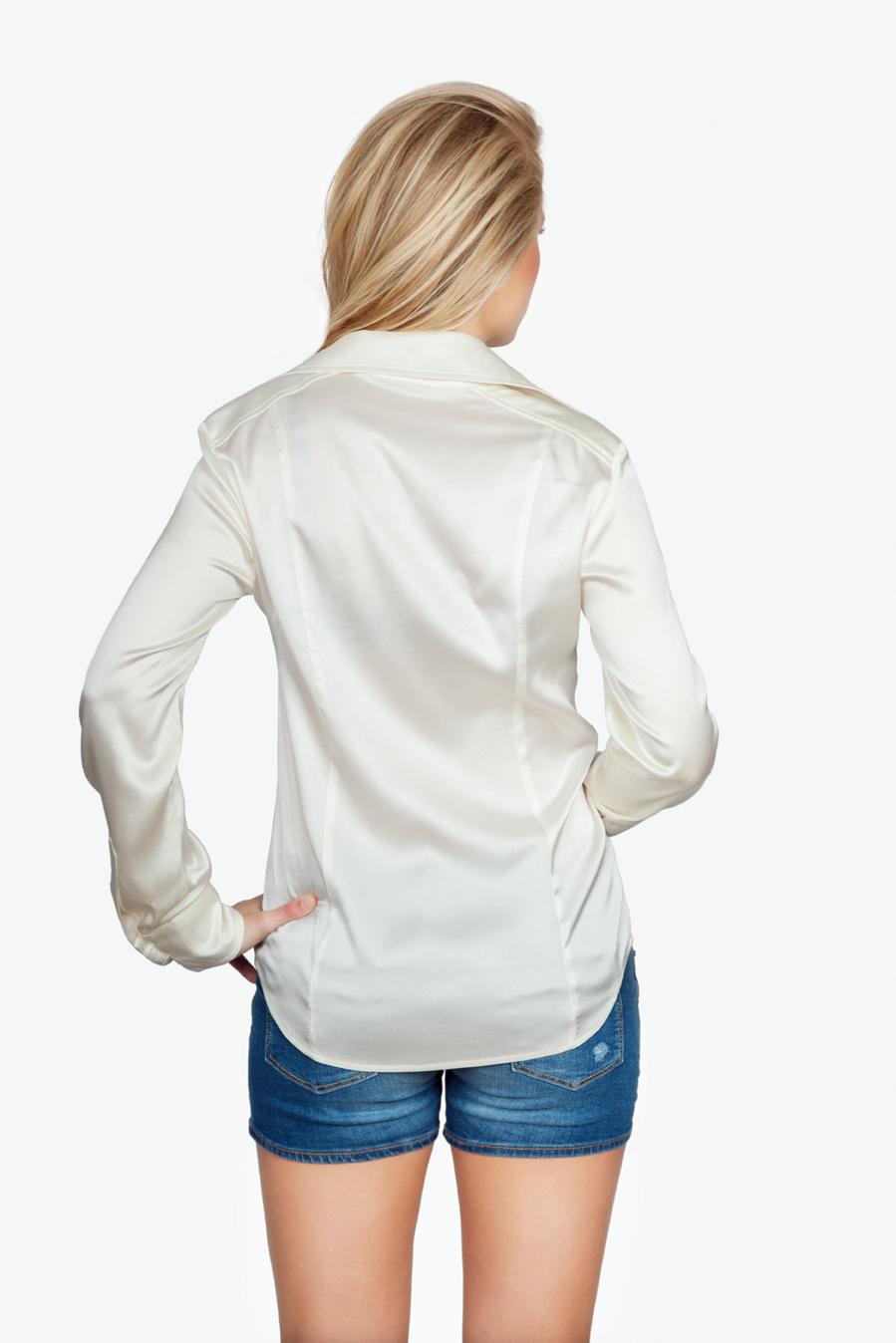 Zijden Witte Blouse - Achterkant